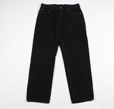 Vintage 90s Levis Mens 36x30 550 Relaxed Fit Denim Jeans Pants Black Cotton - $32.62