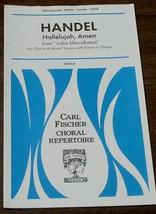 Hallelujah, Amen, George Frideric Handel,  1952  OLD SHEET MUSIC - VGC - $5.93