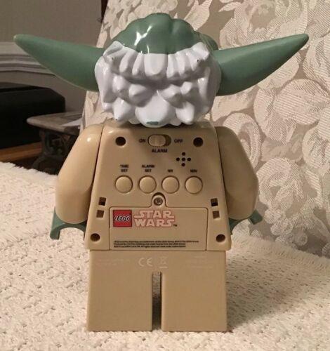 LEGO Star Wars YODA Digital Clock - Push Down on Yoda's Head to Snooze, 9003080