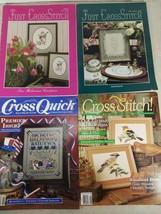 Cross Stitch Magazine Lot Of 4, Just Cross Stitch, Cross Quick, Cross St... - $9.99