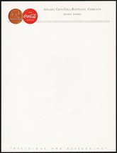 Vintage letterhead COCA COLA 50th Anniversary Arcadia Florida unused n-m... - $9.99