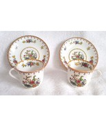 Two Spode Copeland's China England PEPLOW Demitasse Cups Saucers - $18.95