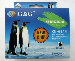 New G&G NH-R0932XL Bk Ink Cartridge CN-053AN Use With Hp Officejet 6100/6600/67 - $6.75