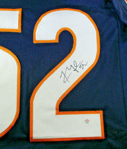 KHALIL MACK / AUTOGRAPHED CHICAGO BEARS BLUE CUSTOM FOOTBALL JERSEY / COA image 4