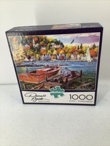 Darrell Bush 1000 piece Buffalo Puzzle Season Finale Boat Dock Dog - $8.59