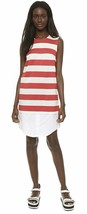 Jacquemus Red and White Stripe Shirt Dress Size 36 $394 Iconic French US... - $186.96