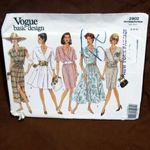 Vtg Vogue Pattern Basic Design #2902 Size 8 10 12 Misses Petite Dress Va... - $19.99
