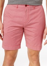 """Tommy Hilfiger Mens Andrew 9"""" Cotton Shorts Chili Pepper 33 $65 - $22.76"""