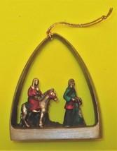 """RUSS 2"""" Nativity Christmas Resin Ornament Mary Baby Jesus Joseph Donkey - $5.75"""