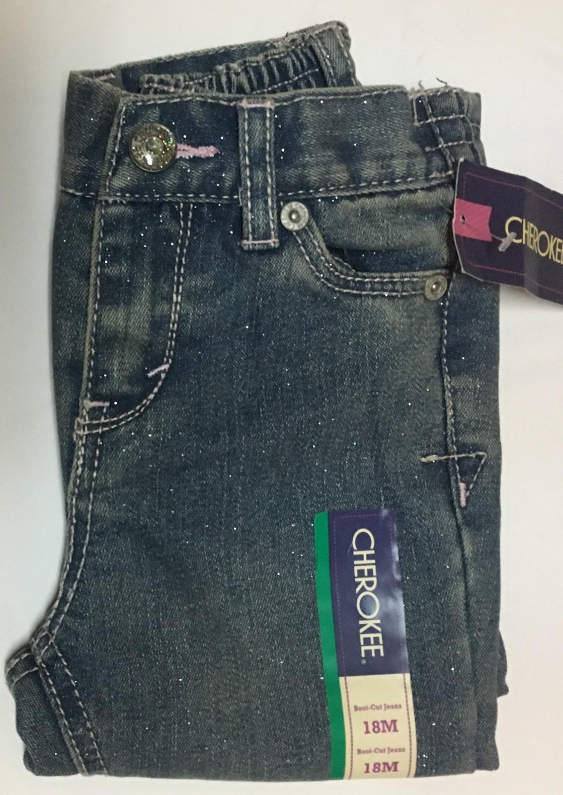 Cherokee Infant Boot Cut Jeans Sz 18 Mo. Sparkles NWT
