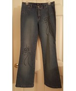 Street Code New York Distressed Stretch Denim Beaded Jeans Size 11 - $20.00