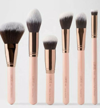 LUXIE 6 PIECE FACE ESSENTIAL BRUSH SET-ROSE GOLD NIP $85 - $42.00
