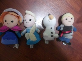 "4 Disney Store Frozen 5"" Plush Finger Puppets Elsa Anna Kristoff Olaf - $13.79"