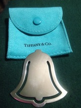"""TIFFANY & CO. """"Bell"""" shaped BOOKMARK in Sterling Silver - RARE - 1999 - $125.00"""