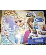Disney Frozen Elsa Anna 5 Wood Puzzles Sven Kristoff - $18.00