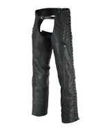 Women's Stylish Lightweight Hip Set Biker Motorcycle Chaps Daniel Smart ... - $149.95