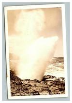 Vintage 1940's RPPC Postcard The Spouting Horn Depoe Bay Oregon - $25.71