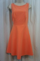 Betsey Johnson Dress Sz 10 Tangerine Cutout Back Fit And Flare Cocktail Party - $69.26