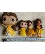 4 Disney Princess plastic figurines, Belle, mixed lot, 1 Has Defect See ... - $24.75