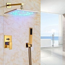 Cascada Luxury Bathroom Shower Set Rainfall LED Shower Head, Double-Function Val - $544.45