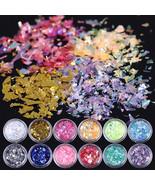 12Colors Mixed Nail Art Iced Mylar Glitter Powder Acrylic UV Gel Decorat... - $5.70