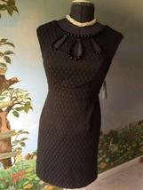 Donna Ricco New York Petite Woman's Sleeveless Black Dress SZ 8P NWT - $64.34