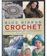 Free Ship Blue Ribbon Crochet Hardbound Book Ya... - $9.99