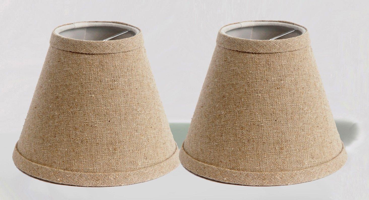 linen chandelier mini lamp shades hardback natural 3x6x5 set of 2. Black Bedroom Furniture Sets. Home Design Ideas