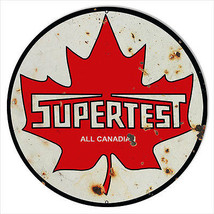 Large Reproduction Supertest Canadian Motor Oil Sign 18 Round - $46.53