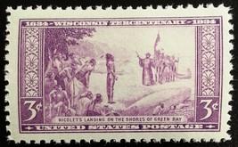 1934 3c Wisconsin Discovery, 300th Anniversary Scott 739 Mint F/VF NH - $1.47