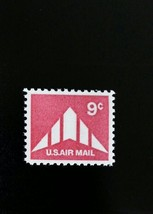 1971 9c Delta Wing Plane Silhouette, U.S. Air Mail Scott C77 Mint F/VF NH - $1.09
