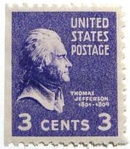 1938 3c Thomas Jefferson Scott 807a Mint F/VF NH - $0.99
