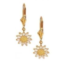 Women/Children's Unique 14K Solid Yellow Gold Opal Dangle Earrings - $125.71