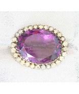 Antique Victorian Purple Cut Glass Crystal Rhin... - $70.00
