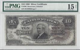 1886 $10 SILVER CERTIFICATE Fr#296 PMG 15 NET - $3,414.51