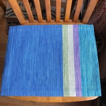 Crate & Barrel Fractions Blue Purple Green Placemat Replacement - $11.88