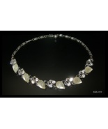 LISNER Clear Rhinestones and Opaque Glass Fruit... - $105.00