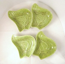 Lazy susan green pottery leaf dishes 03 thumb200