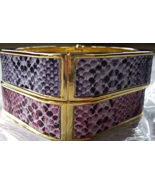 KJL SIMULATED SNAKE SKIN BANGLE BRACELET - $24.00