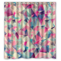 Geometric #03 Shower Curtain Waterproof Made From Polyester - $29.07+