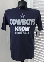 NIKE Cowboys Know Football Draft 2 T-Shirt sz S Small Navy Dallas Authentic NFL - $19.99