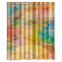 Geometric #14 Shower Curtain Waterproof Made From Polyester image 1
