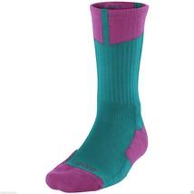 NIKE Air Jordan AJ Dri-FIT Crew Socks sz L Large (8-12) Abyss Magenta Be... - $22.49