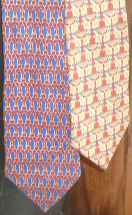 Lot of 2 LANCEL Paris France colorful Silk TIE Neckties