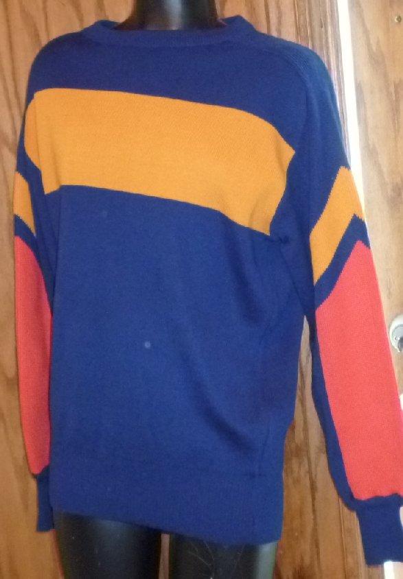 NWT Vintage OBERMEYER color block Ski Sweater men size M