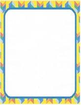 Yellow Herringbone Stationery Printer Paper 26 Sheets - $9.89