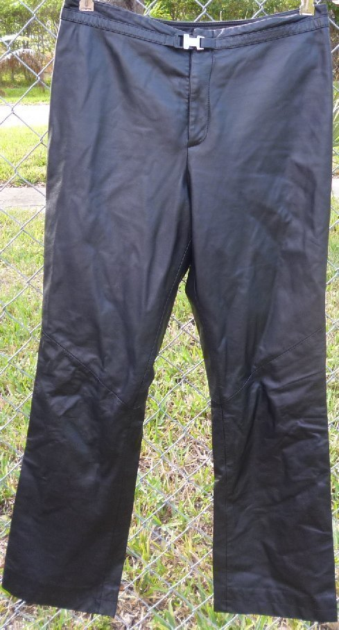 RALPH LAUREN black Soft LEATHER pants size 8