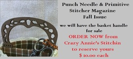 Autumn Basket Handle for chart in Fall 2016 Punch Needle Prim Stitcher M... - $10.00