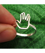 Startrek Live Long and Prosper Ring - Geek Nerd - Star Trek Ring - Birth... - $42.00