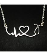 Nurse ECG Stethoscope Necklace - Heart Beat Necklace Doctors EKG, Practi... - $45.00